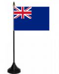 Blue Ensign Desk / Table Flag with plastic stand and base.